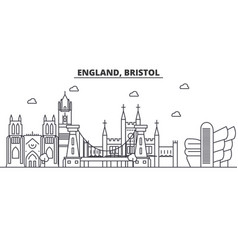 England bristol architecture line skyline vector