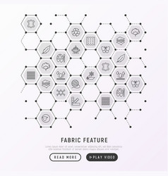 Fabric feature concept in honeycombs vector