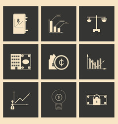 flat in black and white concept economic icon vector image