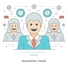 Flat line Business Concept vector image