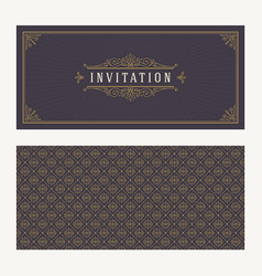 flourishes and ornamental vintage design vector image