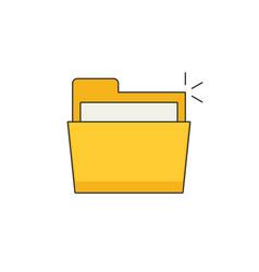 Folder flat icon vector