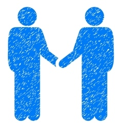 Friend Meeting Grainy Texture Icon vector