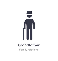 Grandfather icon isolated icon from vector