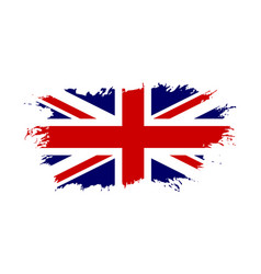 Great britain flag jack uk grunge flag isolated vector