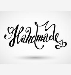 Hand drawn grunge badge handmade workshop hand vector