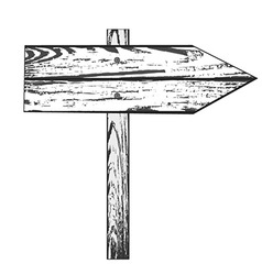 Hand Drawn Wooden Sign vector image