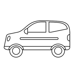 Hatchback car vehicle side view outline vector