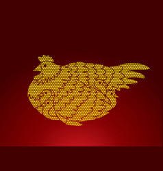 hen with chicken vector image