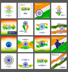 indian indepemdence day card vector image
