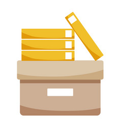 Isolated box with folders design vector
