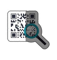 Isolated qr code design vector image