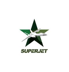 jet symbol logo design templatestar and je vector image