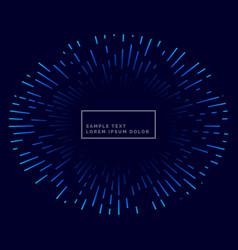Lines bursting outside blue theme background vector