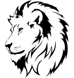 Lion head in interpretation 16 vector
