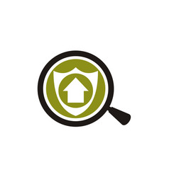 looking for home with safe vector image
