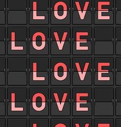 Love Flip Board vector image