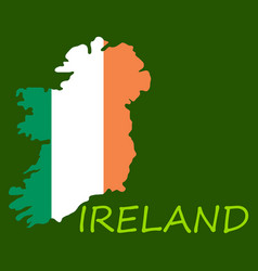map of ireland with flag hand painted with brush vector image