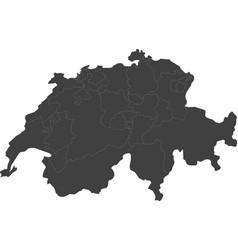 Map of switzerland split into regions vector