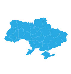 map of ukraine high detailed map - ukraine vector image