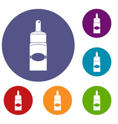 Medical drops icons set vector