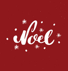 merry christmas calligraphic lettering noel vector image