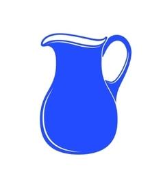 Milk jug or pitcher logo vector