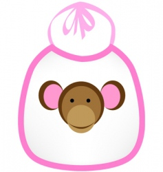 Monkey bib vector
