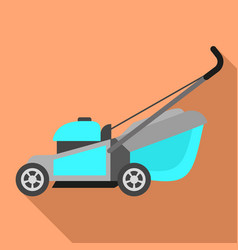 Motor lawnmower icon flat style vector