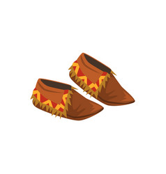 Native american indian moccasins vector