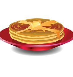 Pancakes icon vector