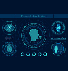 personal identification flat vector image