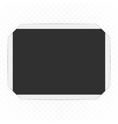 Photo frame with corners vector