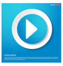 play button icon abstract blue web sticker button vector image