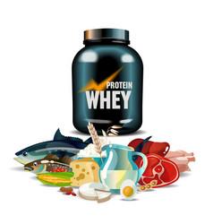 protein nutrition vector image