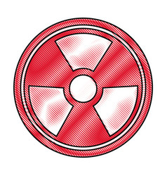 Radiation caution hazard nuclear symbol vector