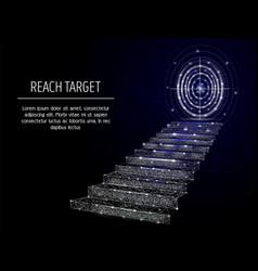 Reach target geometric polygonal art vector