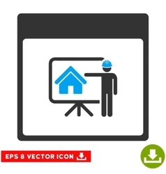 Realty Developer Calendar Page Eps Icon vector