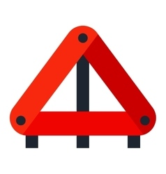Red warning triangle emergency road sign vector