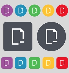 Remove Folder icon sign A set of 12 colored vector