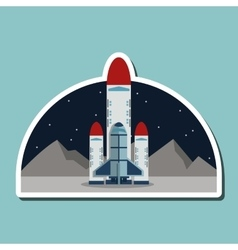 rocket design science concept cosmos icon vector image