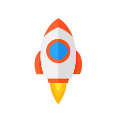 rocket ship icon vector image