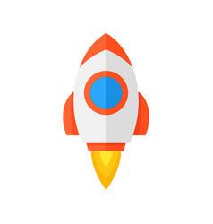 rocket ship icon vector image