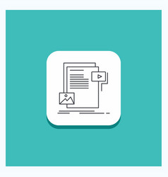 round button for data document file media website vector image