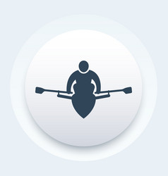 Rowing rower icon vector