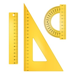Ruler instruments vector