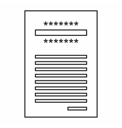Sales printed receipt icon outline style vector