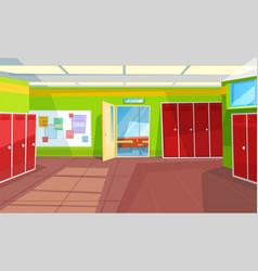 school corridor classroom interior style hallway vector image