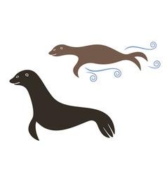 Sea lion vector