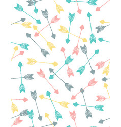 seamless pattern colored arrows on white vector image
